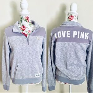 VS Pink lavender quarter zip up pullover